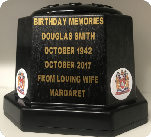 Wigan Warriors Rugby  personalised grave pot
